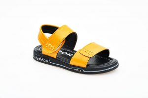 Boys In House Double Velcro Sandals (BOH1(1)-MUSTARD)