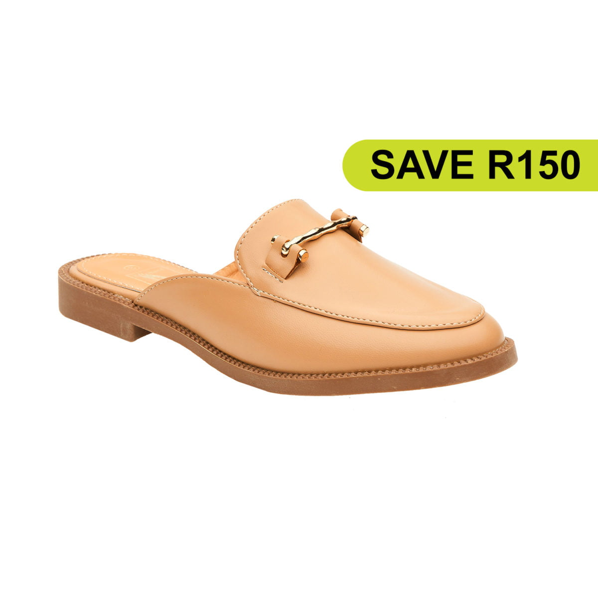 N DEMAND BUCKLE ACCENT LOAFER SLIP ON - NUDE